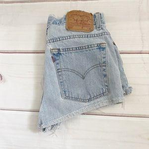 Vintage Levi's 512 Distressed Shorts